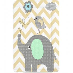 Callowesse Baby Changing Mat - Elephant Chevron