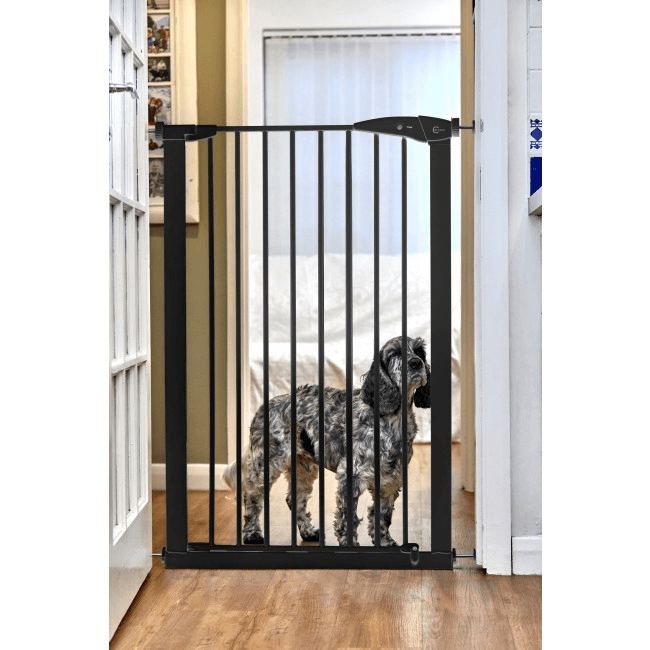 Callowesse Extra Tall Pet Gate 75-82cm Pressure - Black 110cm High