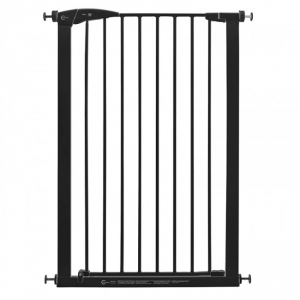 Callowesse Extra Tall Pet Gate 75-82cm Pressure - Black 110cm High