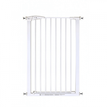 Callowesse Extra Tall Pet Gate 75-82cm Pressure Fit- White 110cm High