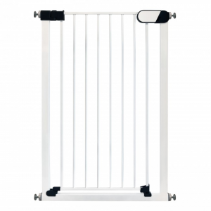 Callowesse Saluki Tall Narrow Pet Gate 65-72cm Pressure Fitted - White 96cm High