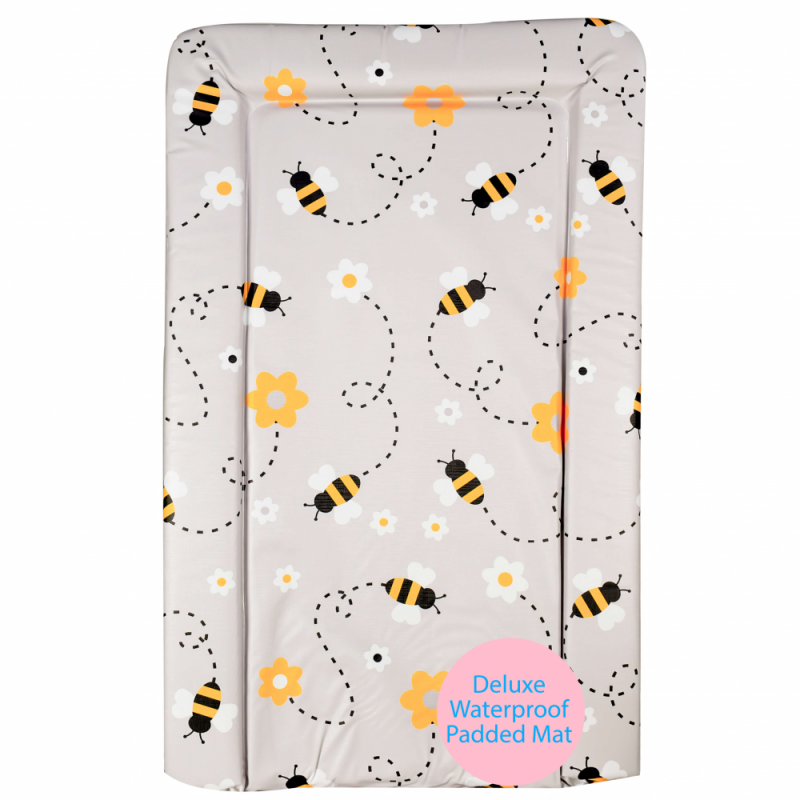 Grey Bee Changing mat