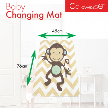 Callowesse Baby Changing Mat – Monkey Chevron