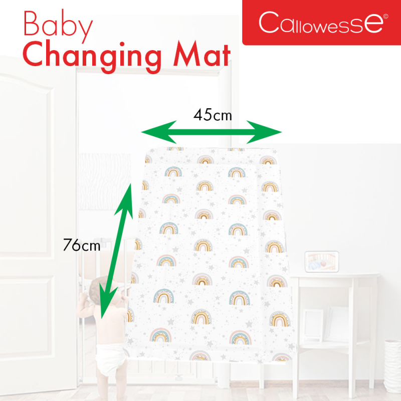 Callowesse Baby Changing Mat – Rainbow