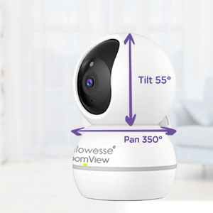 Callowesse RoomView Baby Video Monitor Pan and Tilt
