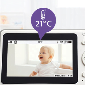 Callowesse RoomView Video Baby Monitor Room Temperature Monitoring