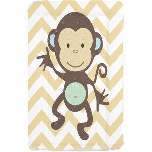 Callowesse Baby Changing Mat – monkey chevron