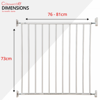Callowesse Screwfit Metal Stair Gate Dimensions