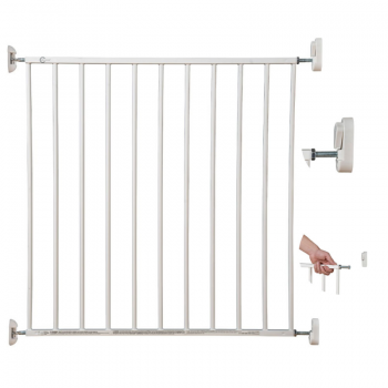 Callowesse Screwfit Metal Stair Gate Full Display