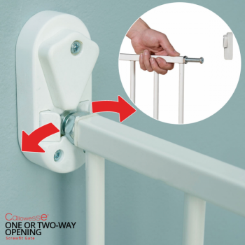 Callowesse Screwfit Metal Stair Gate Two-Way-Opening