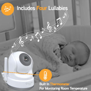 Callowesse SmartView Soothing Lullabies & Room Temperature Monitoring