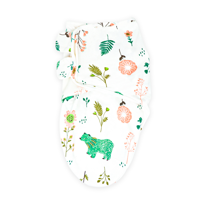 Bears and Blossoms Swaddle