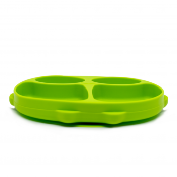 Callowesse Animal Silicone Plate – Green Owl 1