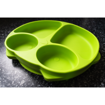 Callowesse Animal Silicone Plate – Green Owl 2