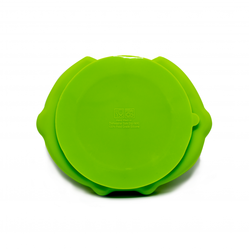 Callowesse Animal Silicone Plate – Green Owl back