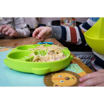 Callowesse Animal Silicone Plate – Green Owl food 1