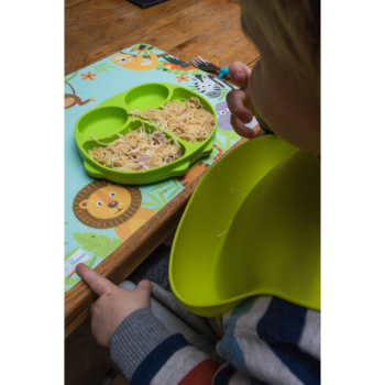 Callowesse Animal Silicone Plate – Green Owl food