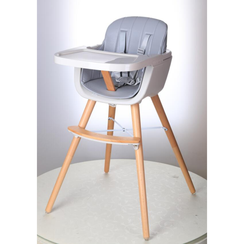 Callowesse-Elata-3-in-1-wooden-highchair-grey-single