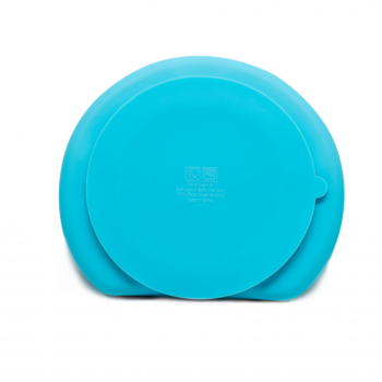 Callowesse Silicone Suction Plate Back Blue