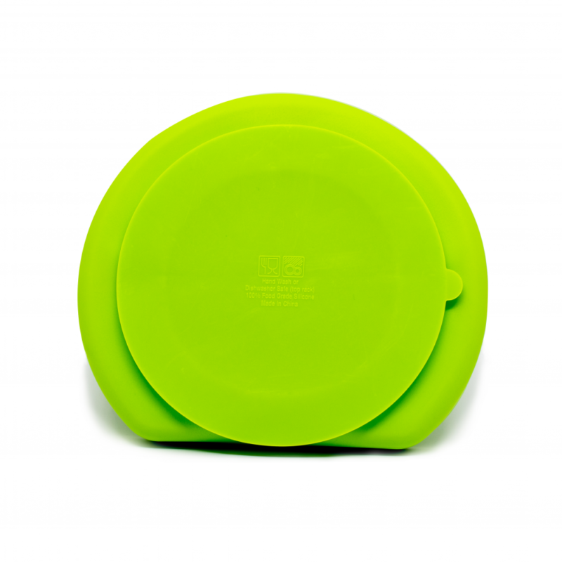 Callowesse Silicone Suction Plate Back Green
