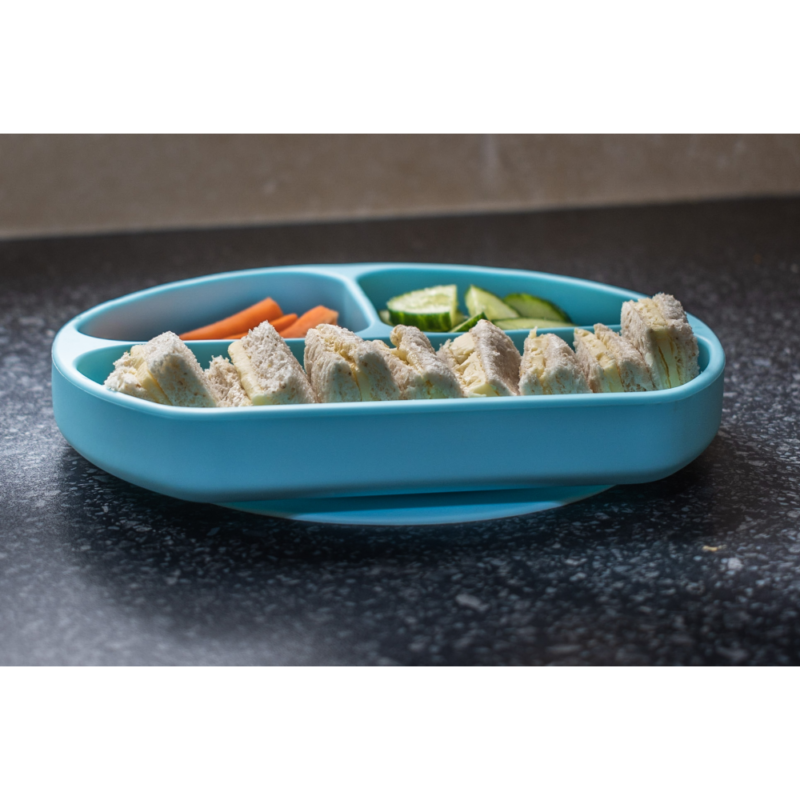 Callowesse Silicone Suction Plate Food Blue 1