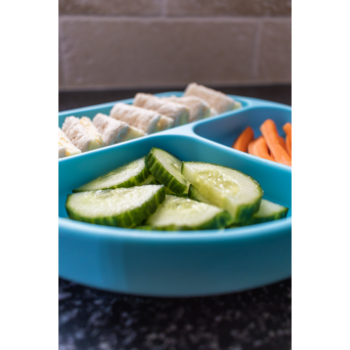 Callowesse Silicone Suction Plate Food Blue 2