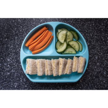 Callowesse Silicone Suction Plate Food Blue 3