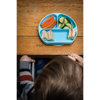 Callowesse Silicone Suction Plate Food Blue 4