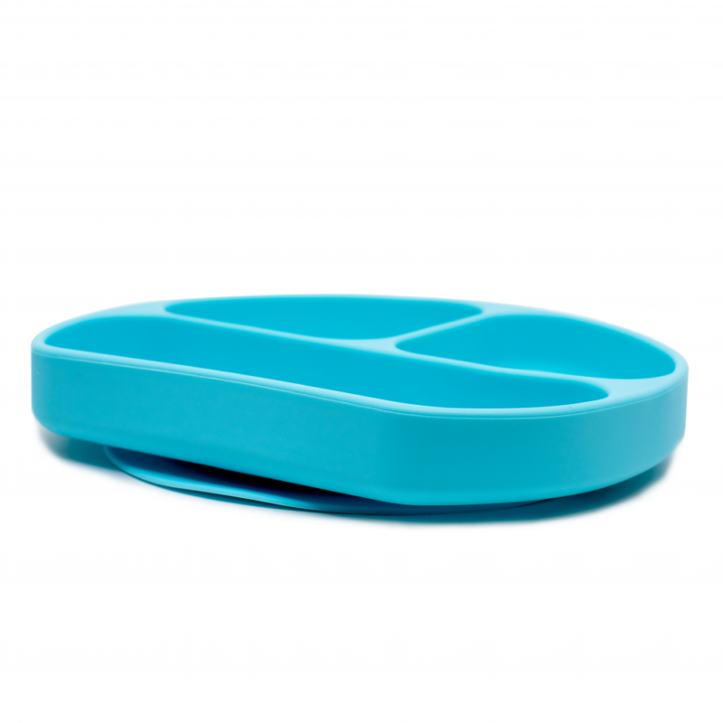 Callowesse Silicone Suction Plate Side Blue