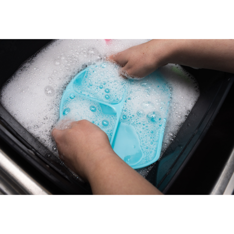 Callowesse Silicone Suction Plate Wash Blue